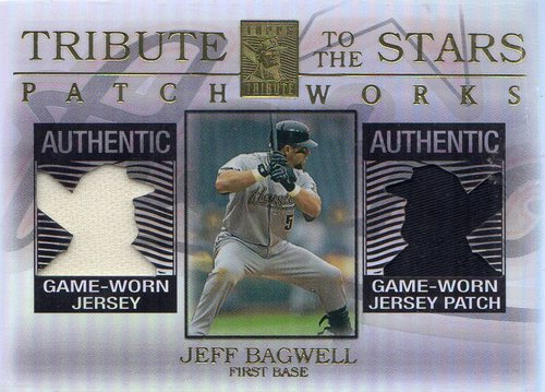 Photo of 2003 Topps Tribute Contemporary Tribute to the Stars Patchworks Dual Relics #JB Jeff Bagwell