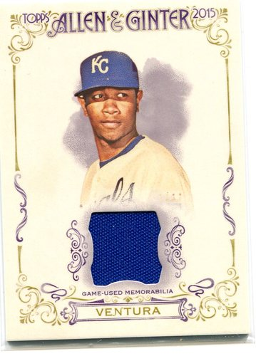 Photo of 2015 Topps Allen and Ginter Relics #FSRAYV Yordano Ventura A
