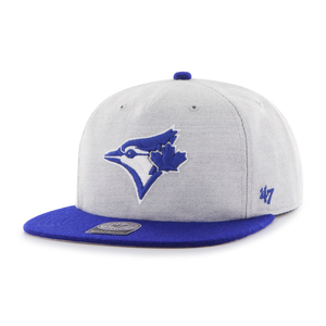 Toronto Blue Jays Lakeview Snapback Cap Grey/Royal by '47 Brand