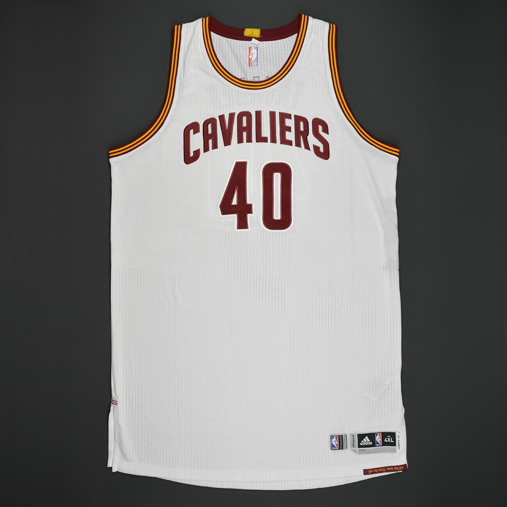Edy Tavares - Cleveland Cavaliers - White Playoffs Game-Issued Jersey - 2016-17 Season