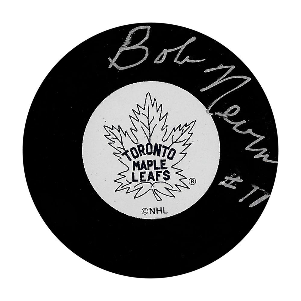 Bob Nevin Autographed Toronto Maple Leafs Puck
