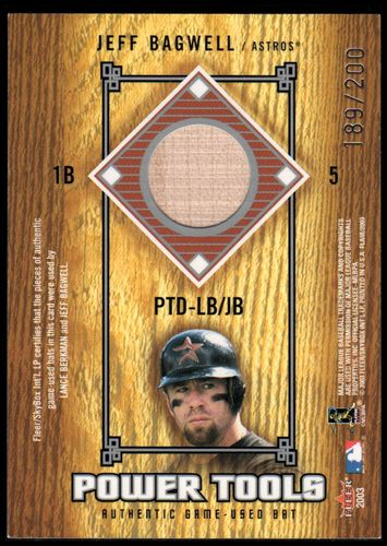 Photo of 2003 Flair Power Tools Dual Bats #LBJB Lance Berkman/Jeff Bagwell