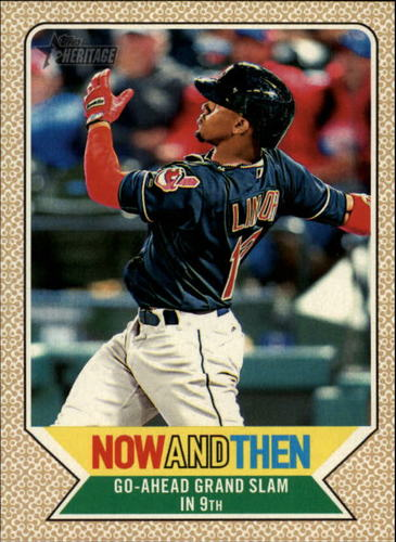 Photo of 2017 Topps Heritage Now and Then #NT4 Francisco Lindor
