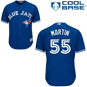 Youth Cool Base Replica Russell Martin Alternate Jersey by Majestic