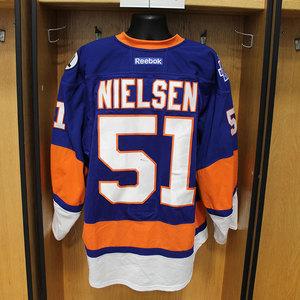 Frans Nielsen - Game Worn Home Jersey - 2015-16 Season - New York Islanders