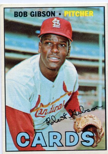 Photo of 1967 Topps #210 Bob Gibson -- Cardinals Hall of Famer