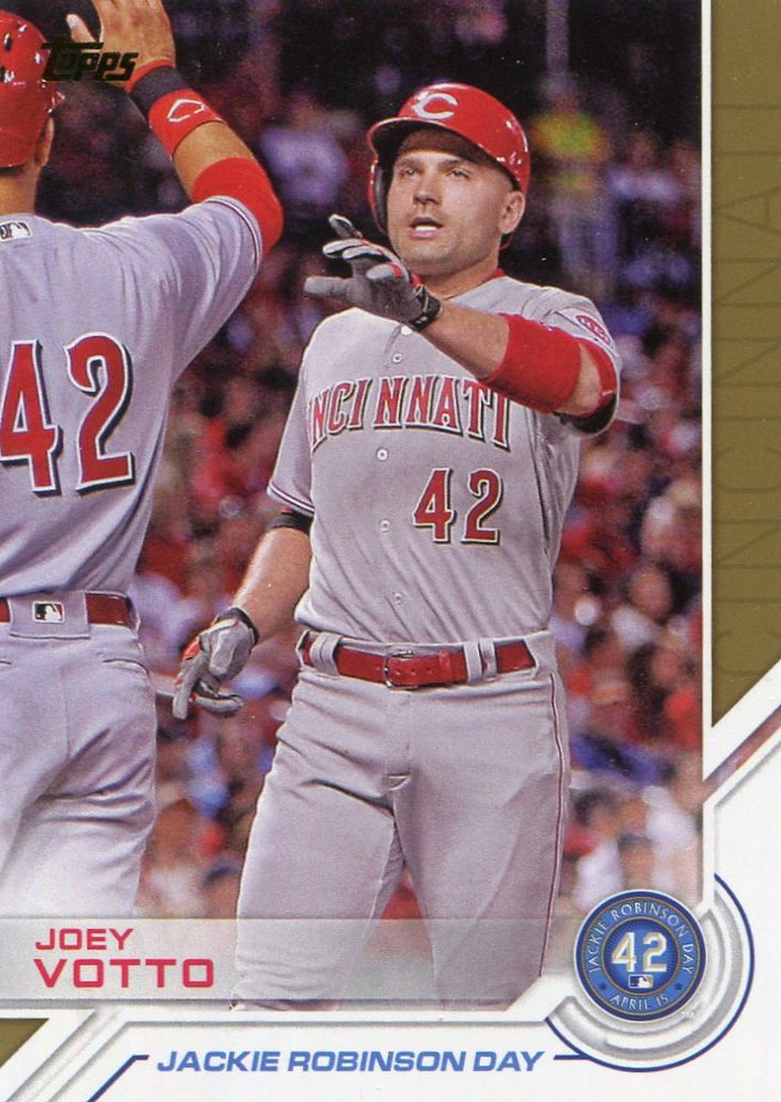 2017 Topps Jackie Robinson Day #JRD29 Joey Votto
