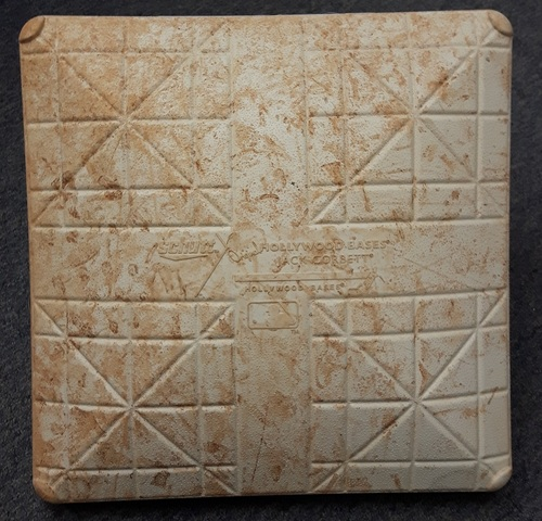 Photo of Authenticated Game Used Base - 2nd Base for Innings 1 to 3 vs LA Dodgers on May 7th (Game pitched by Clayton Kershaw)