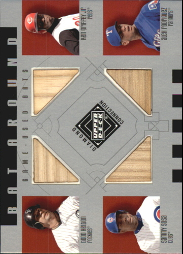 Photo of 2002 Upper Deck Diamond Connection Bat Around Quads Helton Griffey  Sosa Rodriguez