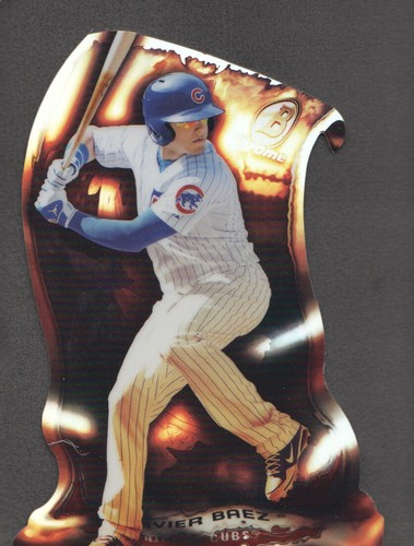 Photo of 2014 Bowman Chrome Fire Die-Cut Refractors #FDCJB Javier Baez Cubs post-season