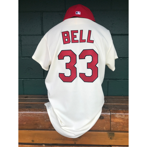 Photo of Cardinals Authentics: David Bell Game Worn 1967 Jersey and Cap