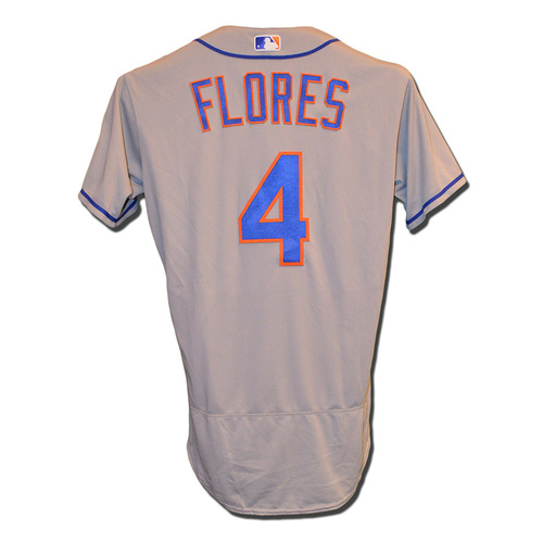 Photo of Wilmer Flores #4 - Team Issued Road Grey Jersey - 2016 Season