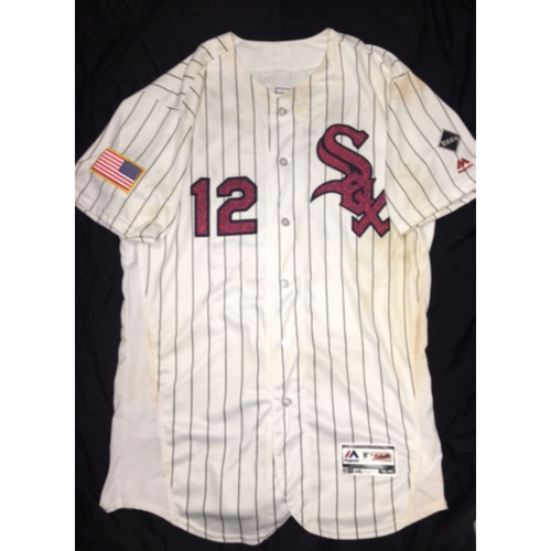 Photo of Tim Anderson 2016 Game-Used Independence Day Jersey - Size 44