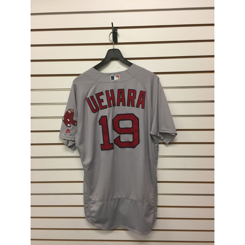 Photo of Koji Uehara Game-Used April 24, 2016 Road Jersey