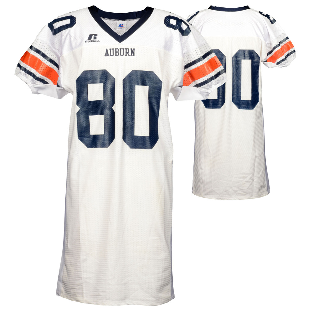 Auburn Tigers Game-Used 2003-2005 Russell White Football Jersey #80 - Size XL