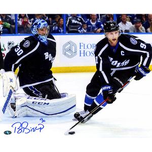 Ben Bishop Signed Tampa Bay Lightning w/ Stamkos 16x20 Photo