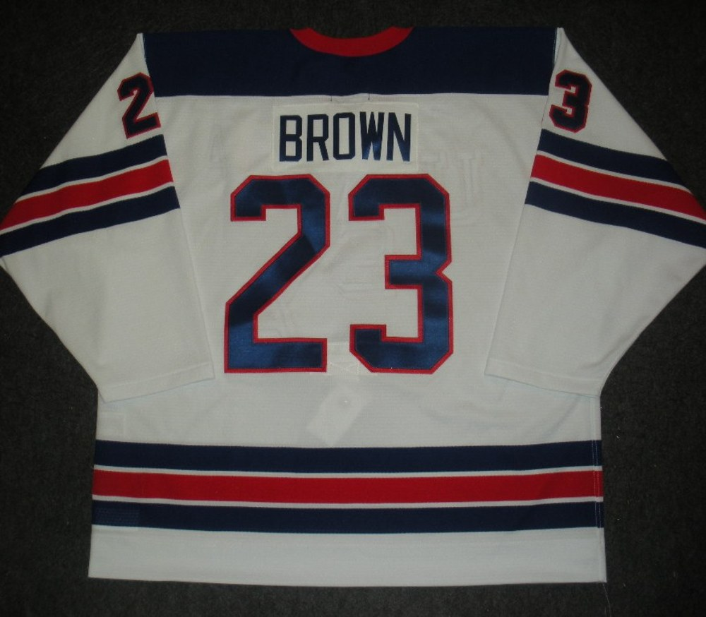 Dustin Brown - Sochi 2014 - Winter Olympic Games - Team USA Throwback Game-Worn Jersey - Worn in 2nd and 3rd Periods vs. Slovenia, 2/16/14