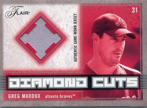 Photo of 2003 Flair Diamond Cuts Jersey  Greg Maddux Jersey