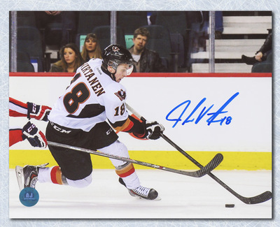 Jake Virtanen Calgary Hitmen Autographed CHL Hockey 8x10 Photo