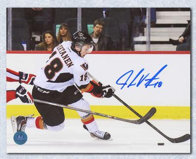 Jake Virtanen Calgary Hitmen Autographed CHL Hockey 8x10 Photo