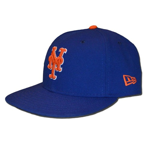 Photo of Travis d'Arnaud #18 - Game Used Blue Alternate Home Hat - Mets vs. Braves - 9/25/17