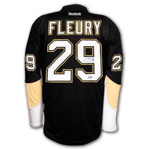 Marc Andre Fleury Pittsburgh Penguins RBK Premier Autographed Jersey