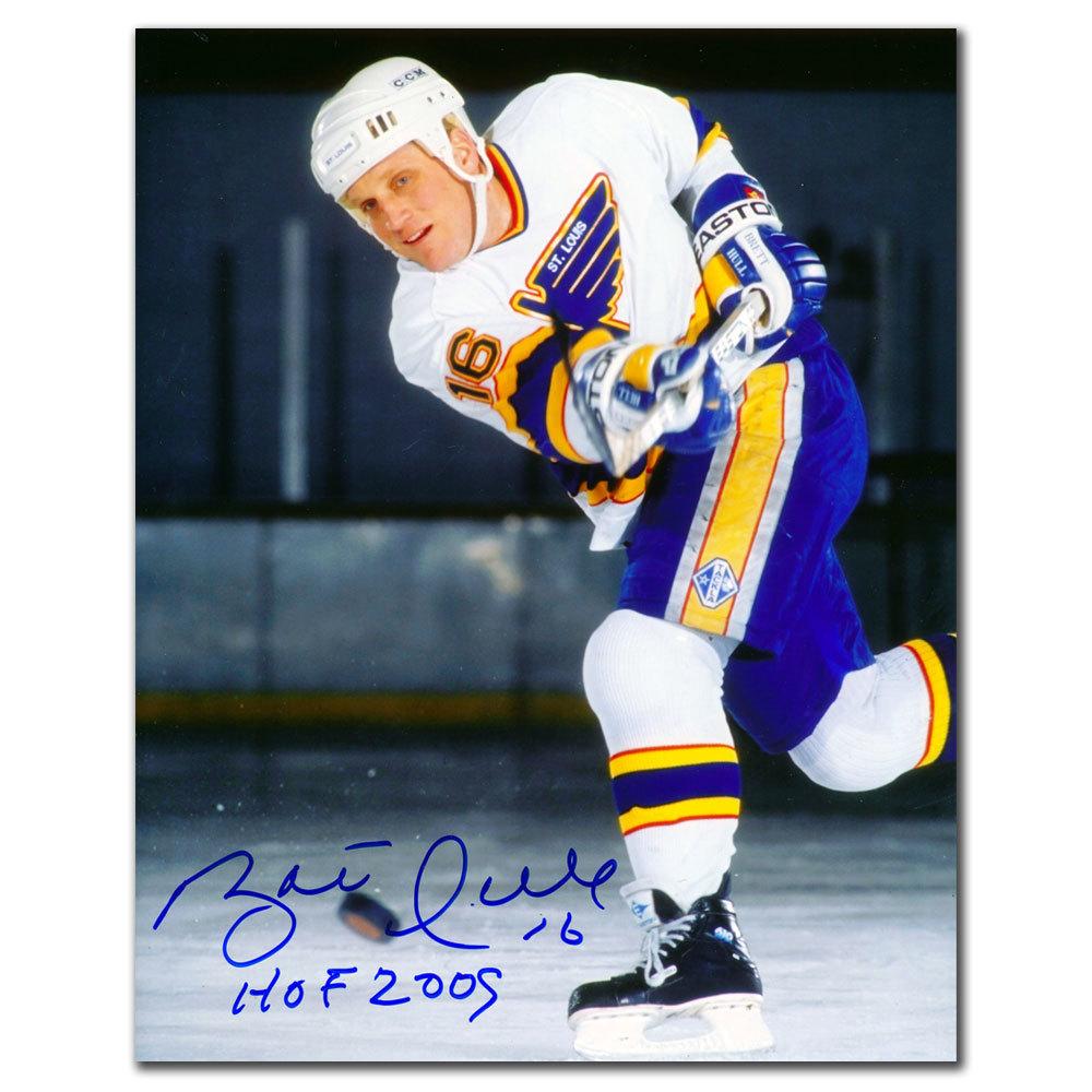 Brett Hull St. Louis Blues SLAPSHOT Autographed 8x10
