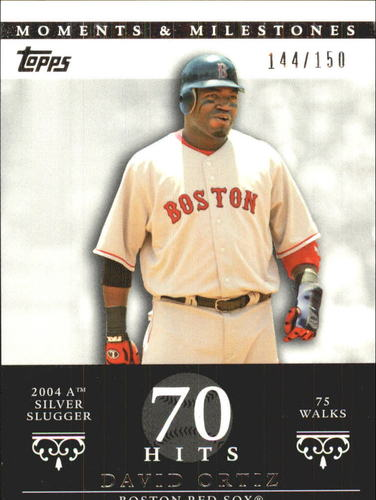 Photo of 2007 Topps Moments and Milestones #103-70 David Ortiz/BB 70