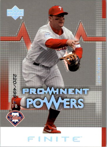 Photo of 2003 Upper Deck Finite #169 Jim Thome PP