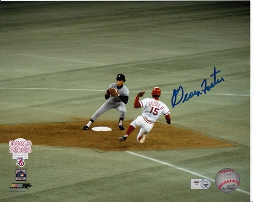 Photo of George Foster Autographed 1976 WS 8x10
