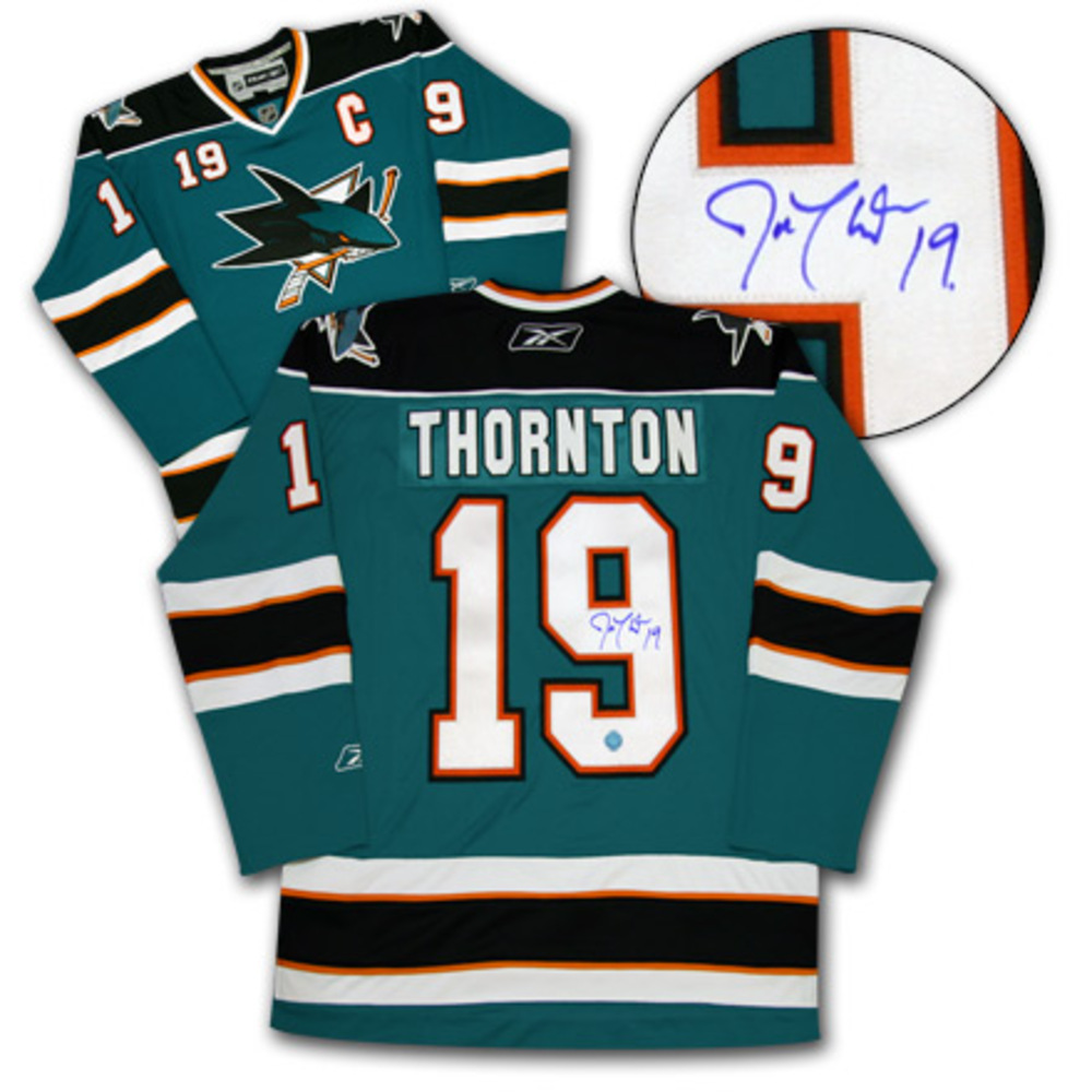 JOE THORNTON San Jose Sharks SIGNED NHL Premier Hockey Jersey