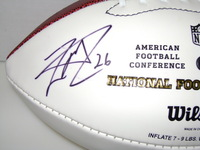DOLPHINS - LAMAR MILLER SIGNED PANEL BALL