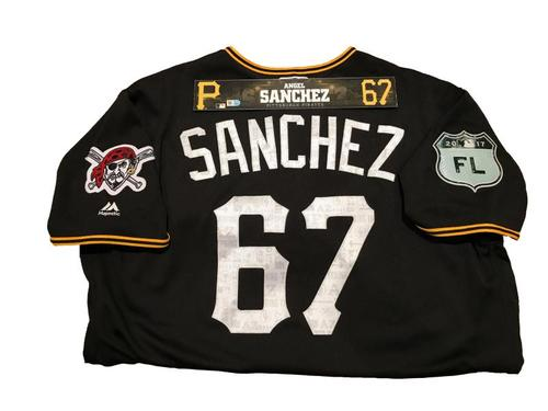 Photo of Angel Sanchez Game-Used Spring Training Jersey and Locker Name Plate
