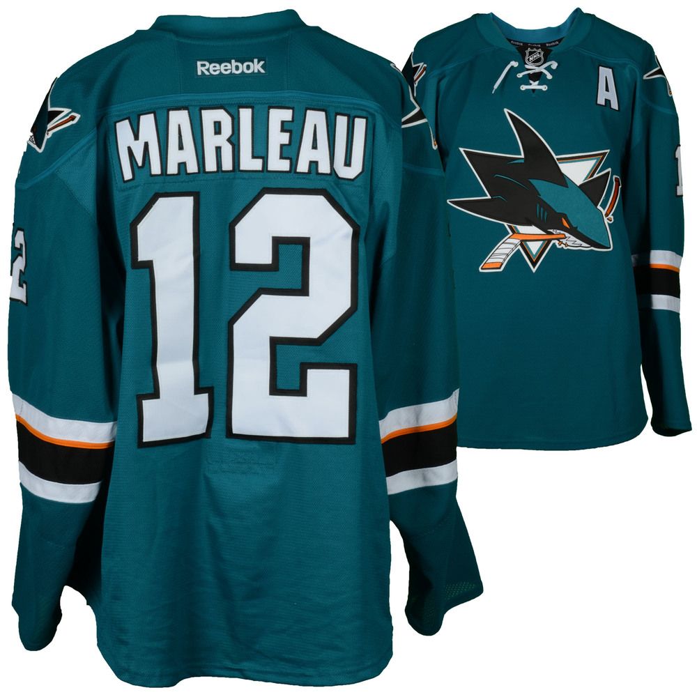 Patrick Marleau San Jose Sharks Game-Used Teal #12 Jersey used vs. Vancouver Canucks on April 4, 2017 - Size 58
