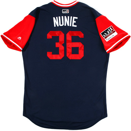 "Photo of Eduardo ""Nunie"" Nunez Boston Red Sox Game-Used Players Weekend Jersey"