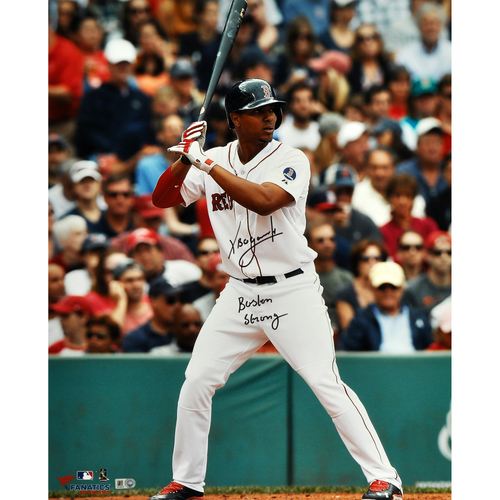 "Photo of Xander Bogaerts Boston Red Sox Autographed 16"" x 20"" White Stance Photograph with Boston Strong Inscription"