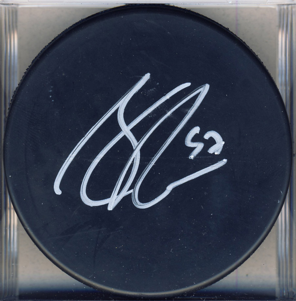 CONNOR MCDAVID Autographed Hockey Puck *Erie Otters*