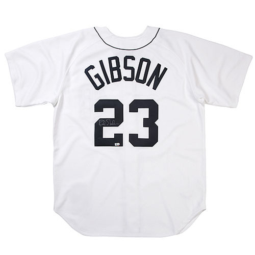 Photo of Detroit Tigers Kirk Gibson Autographed Mitchell and Ness Cooperstown Collection 1984 Home Jersey