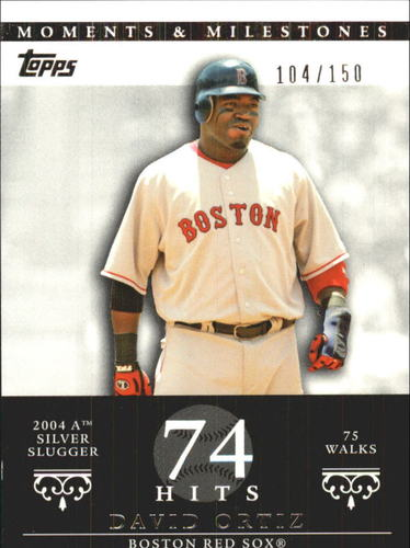 Photo of 2007 Topps Moments and Milestones #103-74 David Ortiz/BB 74