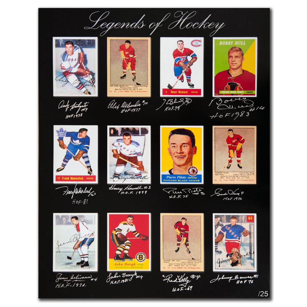 Legends of Hockey Hall of Fame Greats Autographed 16x20