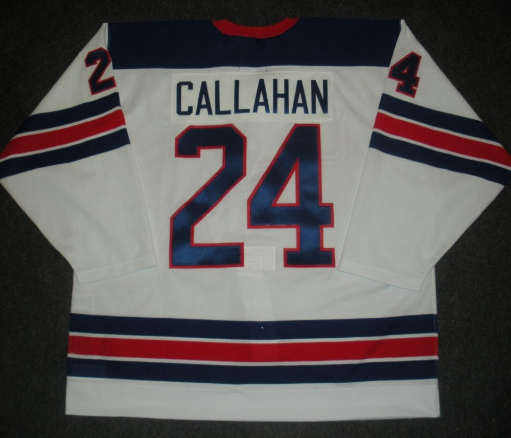 Ryan Callahan - Sochi 2014 - Winter Olympic Games - Team USA Throwback Game-Worn Jersey - Worn in 2nd and 3rd Periods vs. Slovenia, 2/16/14