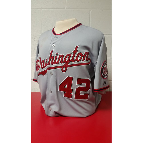 Photo of Game-Used Jersey: Bryce Harper -2015 #42 Jersey - 4/15/15