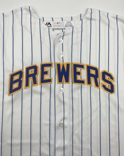 Photo of Milwaukee Brewers Unsigned Replica Jersey - Youth Large