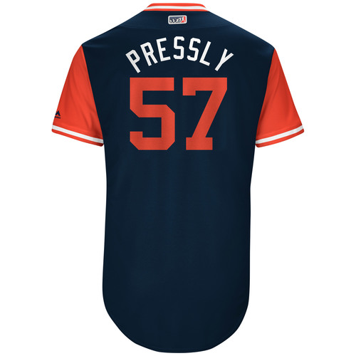 "Photo of Ryan ""Pressly"" Pressly Game-Used Players Weekend Jersey"