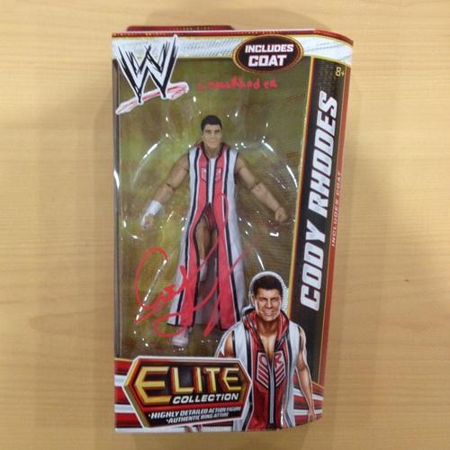 SIGNED Mattel Elite Series 20 Cody Rhodes Action Figure