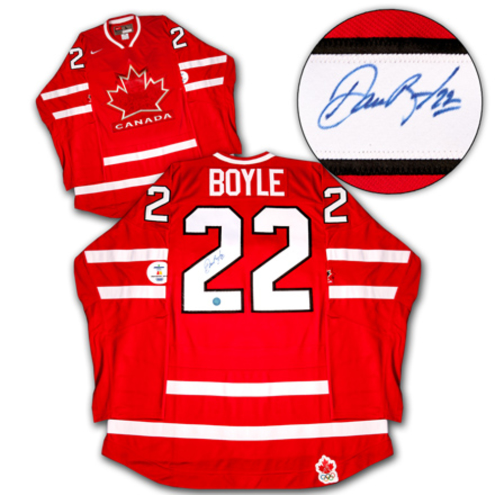 DAN BOYLE 2010 Team Canada SIGNED Olympic Jersey