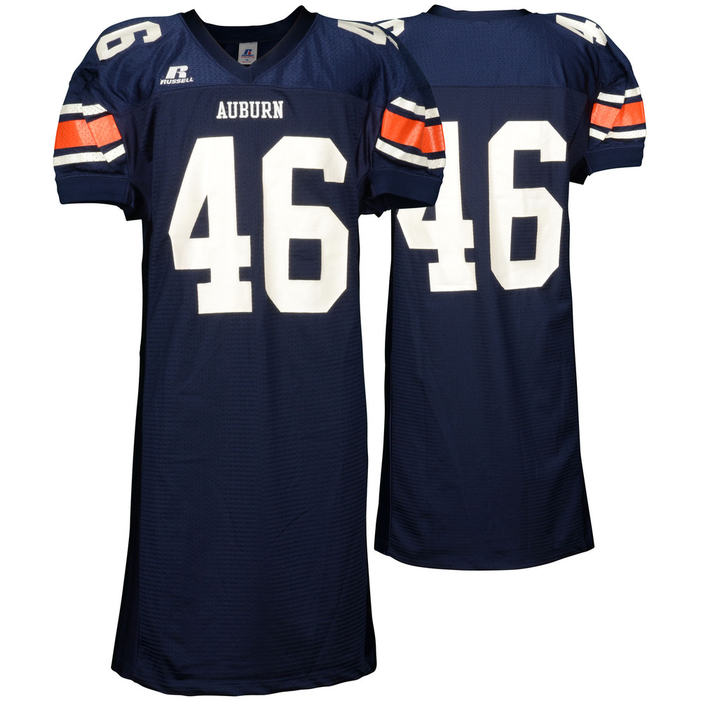 Auburn Tigers Game-Used 2003-2005 Russell Navy Football Jersey #46 - Size XL