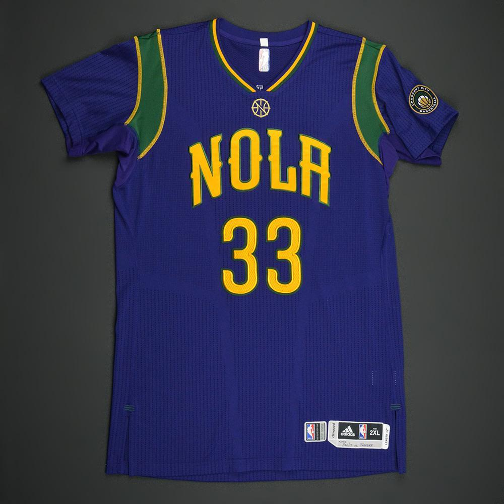 Dante Cunningham - New Orleans Pelicans - Purple 'Mardi Gras' Game-Worn Jersey - 2016-17 Season