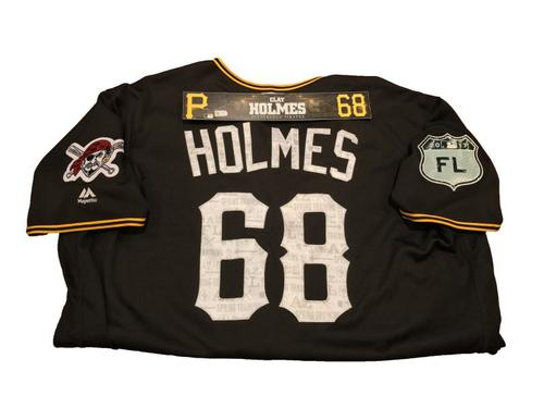 Photo of Clay Holmes Game-Used Spring Training Jersey and Locker Name Plate