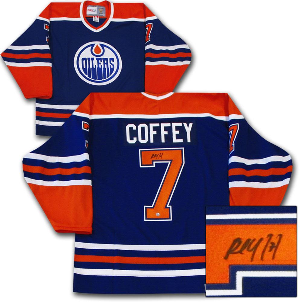 Paul Coffey Autographed Edmonton Oilers Jersey
